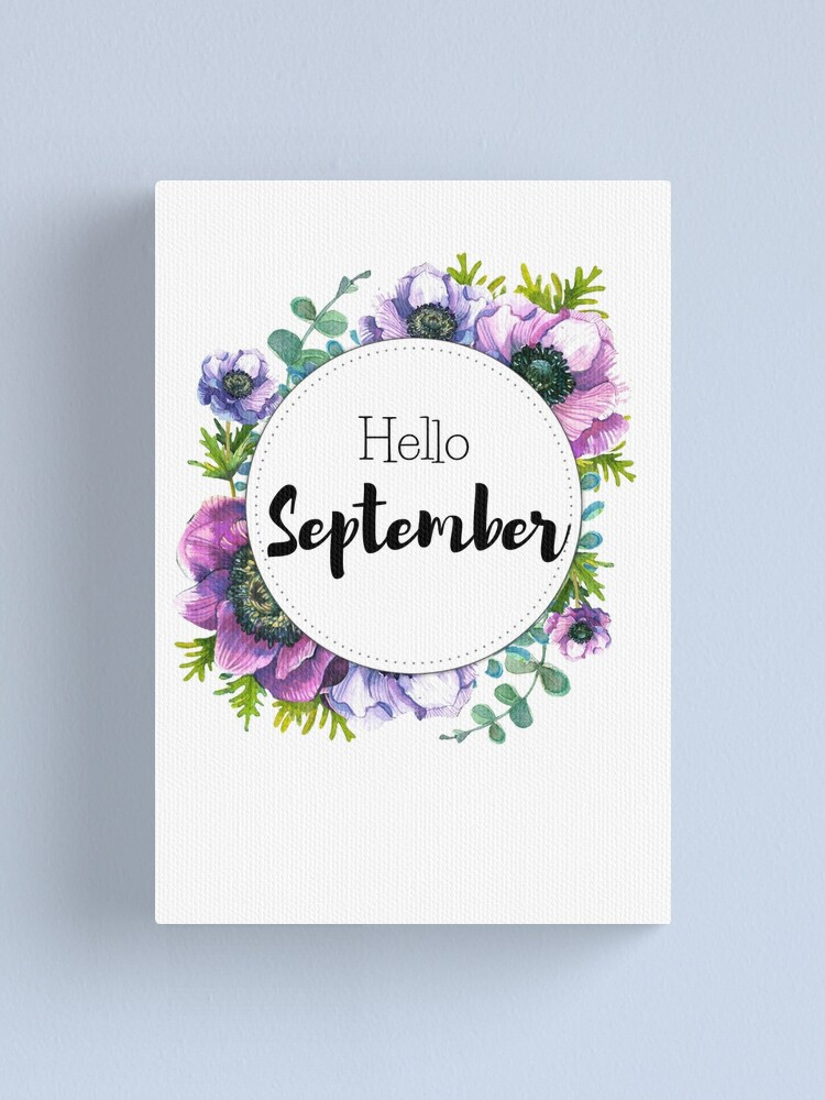 Alternate view of Hello September - monthly cover for planners, bullet journals Canvas Print