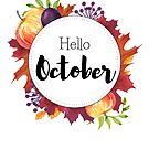 Hello October - monthly cover for planners, bullet journals by vasylissa