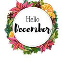 Hello December - monthly cover for planners, bullet journals by vasylissa
