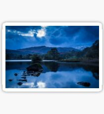 Blue Hour over Rydal Water. Sticker