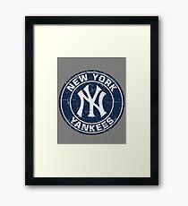 New York Yankees Baseball Club-Distressed Framed Print