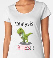 Dialysis Bites T-Rex B Women's Premium T-Shirt