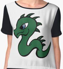 Cartoon Dragons Women's Chiffon Top