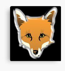 FOX, Foxy, Fox Face, Foxface, Wildlife, Urban Fox, Nature, Dog Canvas Print
