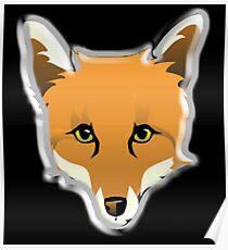 FOX, Foxy, Fox Face, Foxface, Wildlife, Urban Fox, Nature, Dog Poster