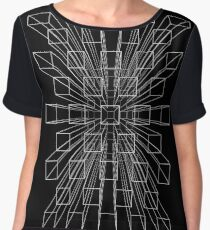 Exploding perspective Chiffon Top