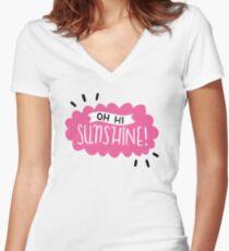 Oh Hi Sunshine! Women's Fitted V-Neck T-Shirt