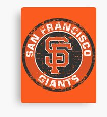 San Francisco Giants Baseball Club MLB-Distressed Canvas Print