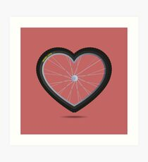 Wheel Love - MTB Red Art Print