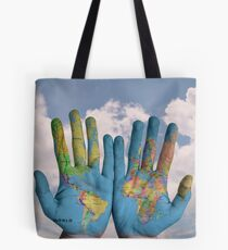 main du monde  Tote Bag