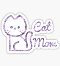 Cat Mom Floral Design Sticker