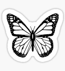 Butterfly, Black and White Butterfly Sticker
