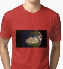 Globe terre monde  Tri-blend T-Shirt