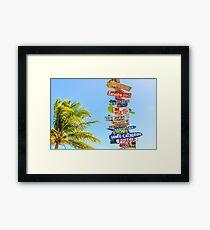 direction de voyage Framed Print