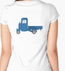 Ape, Scooter, Car, The Ape Car is a 3 wheeled light commercial vehicle Women's Fitted Scoop T-Shirt