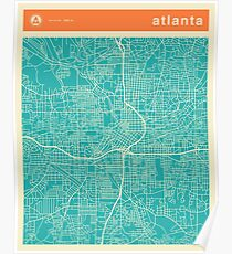 Atlanta Street Map Posters | Redbubble