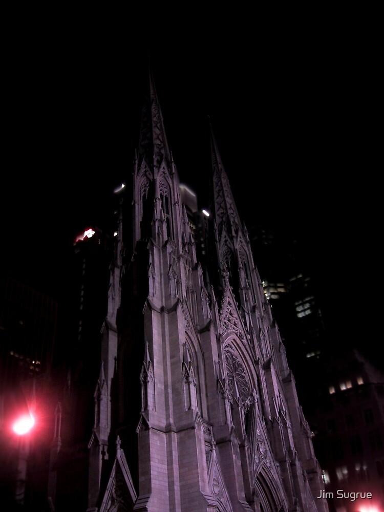 St. Patricks at night by Jim Sugrue