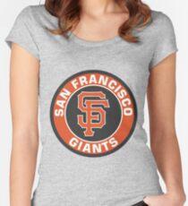 San Francisco Giants Baseball Club MLB Women's Fitted Scoop T-Shirt