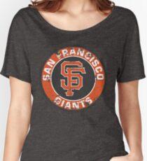 San Francisco Giants Baseball Club MLB-Distressed Women's Relaxed Fit T-Shirt