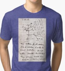 I Think - Charles Darwin 1 Tri-blend T-Shirt