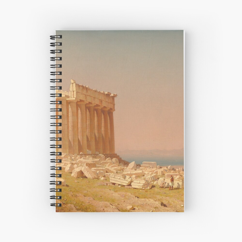 Ruins of the Parthenon Oil Painting by Sanford Robinson Gifford Spiral Notebook