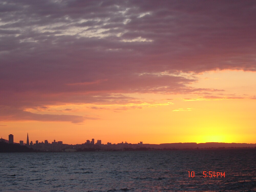 Sunset over San Francisco by clou