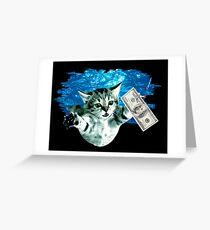 Cat Nevermind Classic Music Album Kurt Cobain Dollar Pool Kitty Swim Greeting Card