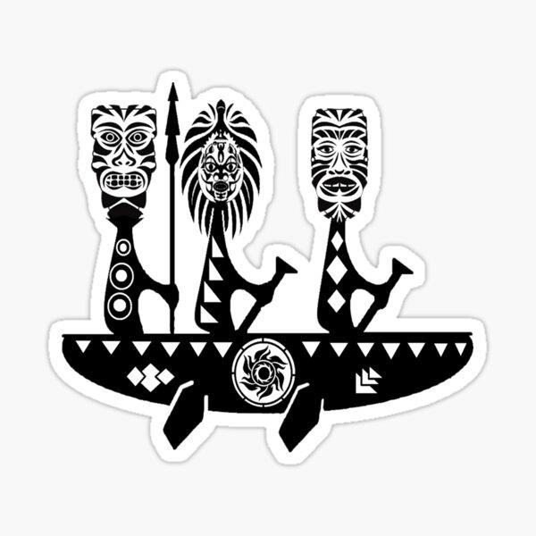 Voile maori Sticker