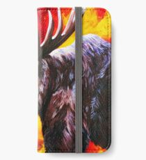 I'm No Bambi Bull Moose Powerful Majestic Wildlife Rack Point Cabin Elk Red Yellow Fire Power Strong Nature Hunting Hunt Sportsman Hunter Rocky Mountains iPhone Wallet/Case/Skin