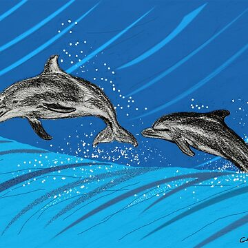 Dolphins Jumping out of the Water by leororing