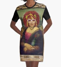Moaner Linda (Gold Frame) Graphic T-Shirt Dress