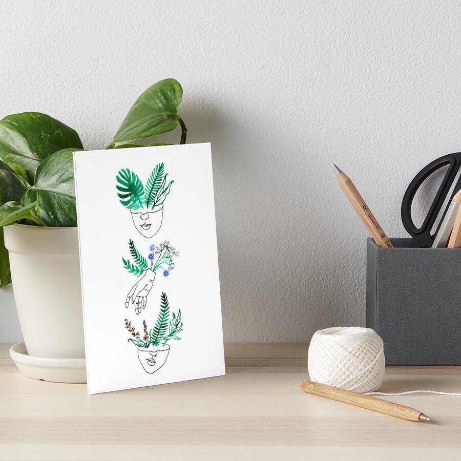 Flora y fauna Art Board Print