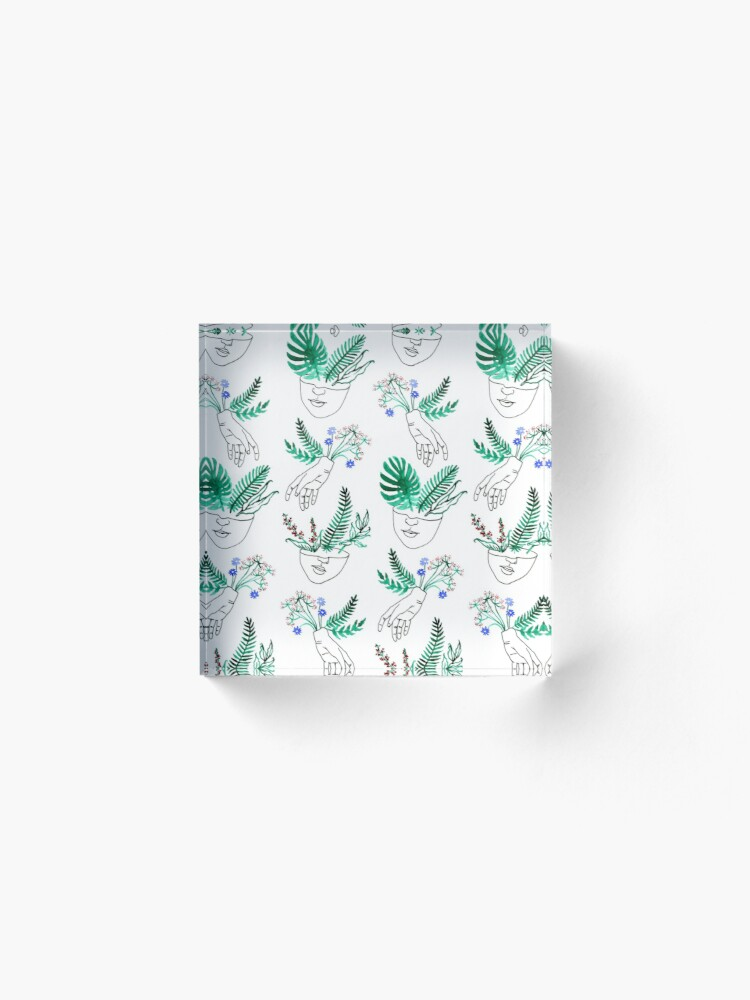 Alternate view of Flora y fauna Acrylic Block