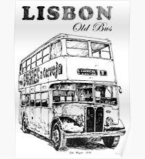 Lisbon - Old Bus Poster