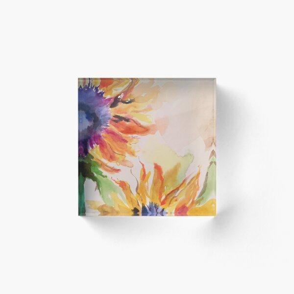 Dreamy Sunflowers Acrylic Block