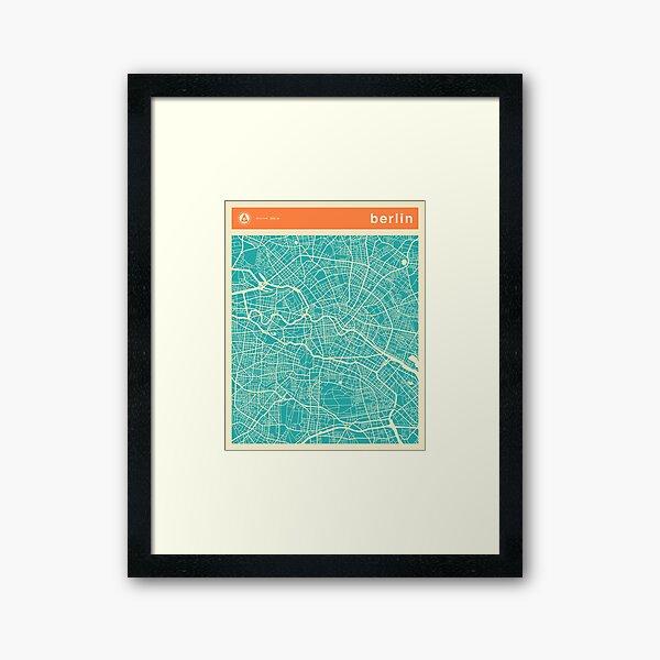 BERLIN MAP Framed Art Print