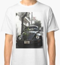 Black VW Bug  - Front View Classic T-Shirt