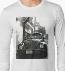 Black VW Bug  - Front View Long Sleeve T-Shirt
