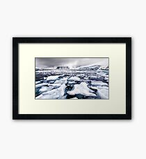 Icy Channel Framed Print