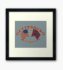Vintage Gettysburg Battlefield Image Framed Print