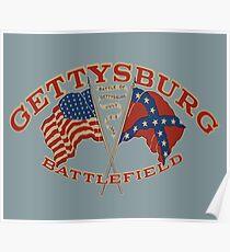 Vintage Gettysburg Battlefield Image Poster