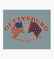 Vintage Gettysburg Battlefield Image Photographic Print