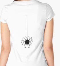 SPIDER, Cartoon Spider, Little Miss Muffet Women's Fitted Scoop T-Shirt