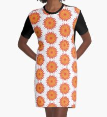 Fluid floral abstraction Graphic T-Shirt Dress