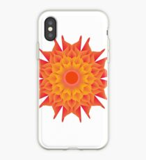 Fluid floral abstraction iPhone Case