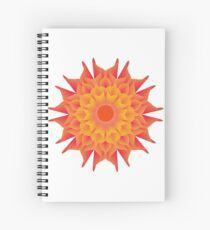 Fluid floral abstraction Spiral Notebook