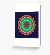 Sunset on the Rockies Mandala Greeting Card
