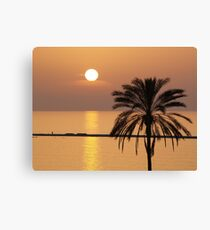 Golden Sunset in Cyprus Canvas Print