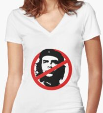 No Che Guevara Women's Fitted V-Neck T-Shirt