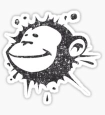 Monkeysplat Retro Sticker